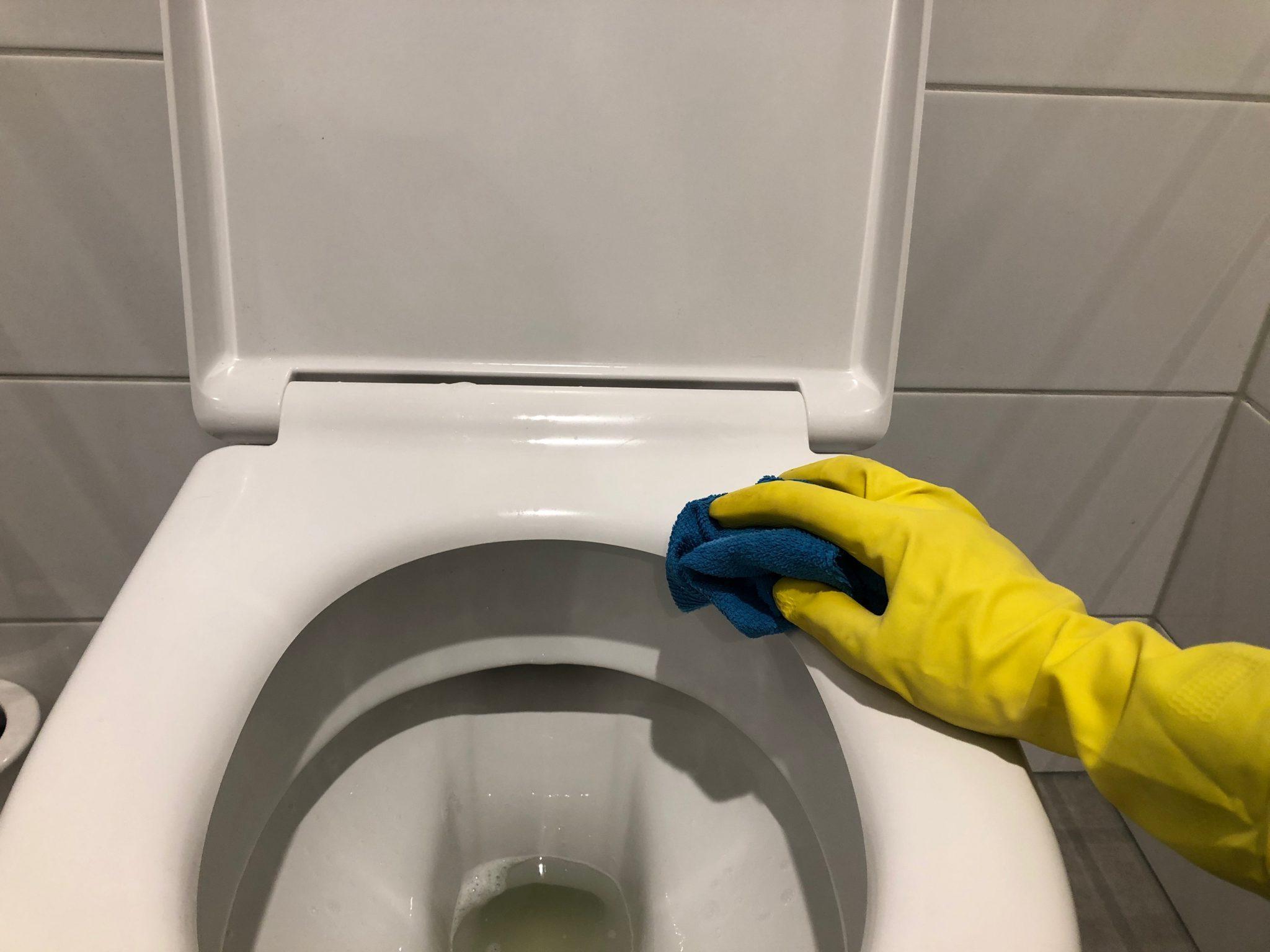 WC bril schoonmaken