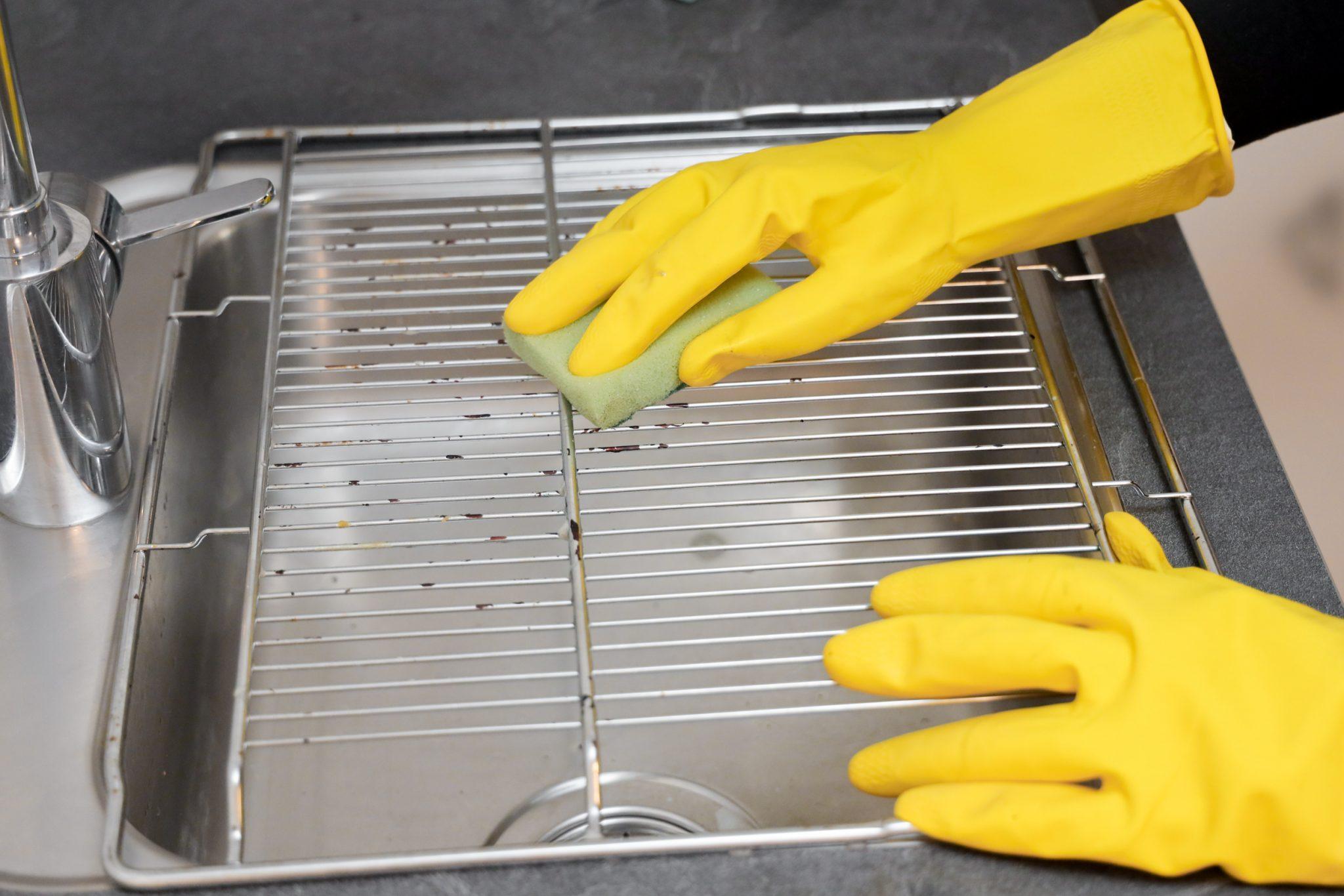 ovenrooster schoonmaken