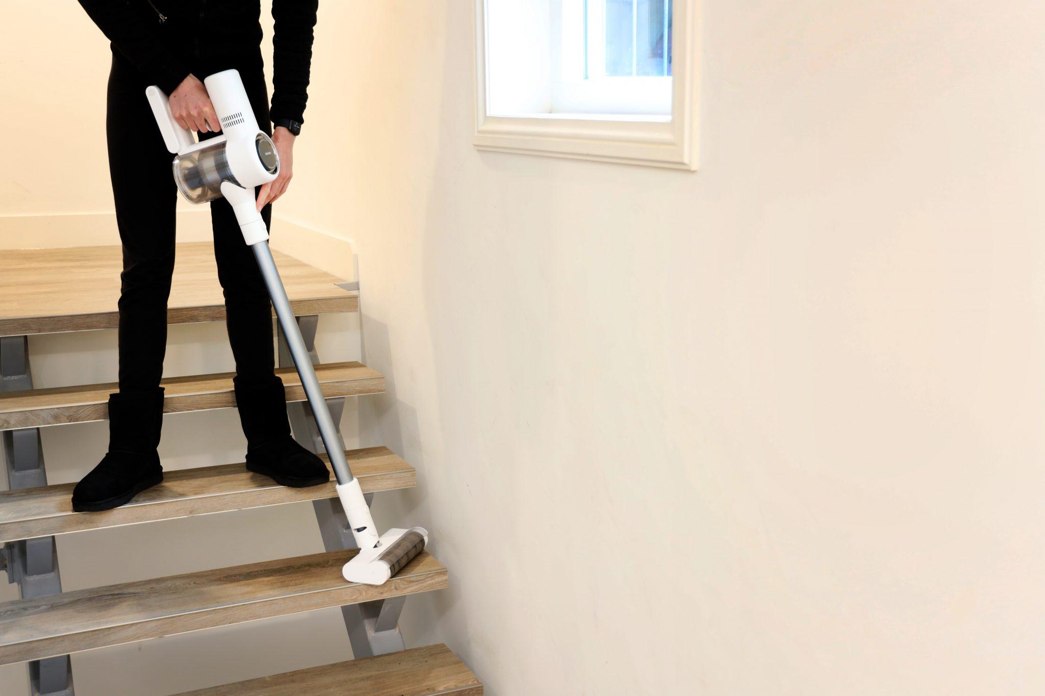 Stofzuigen van een trap