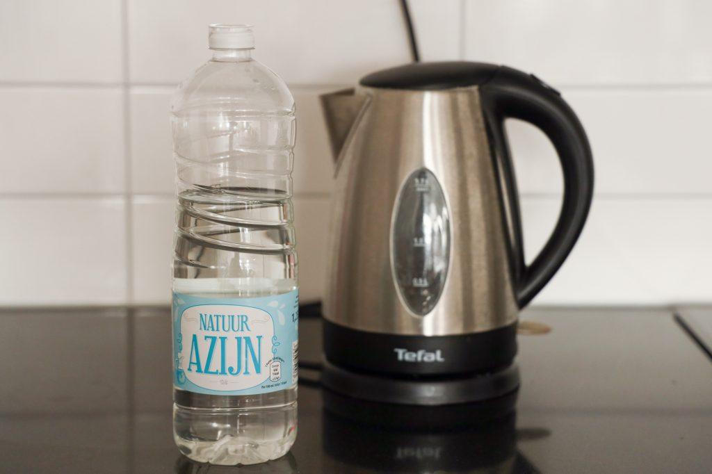 waterkoker ontkalken azijn