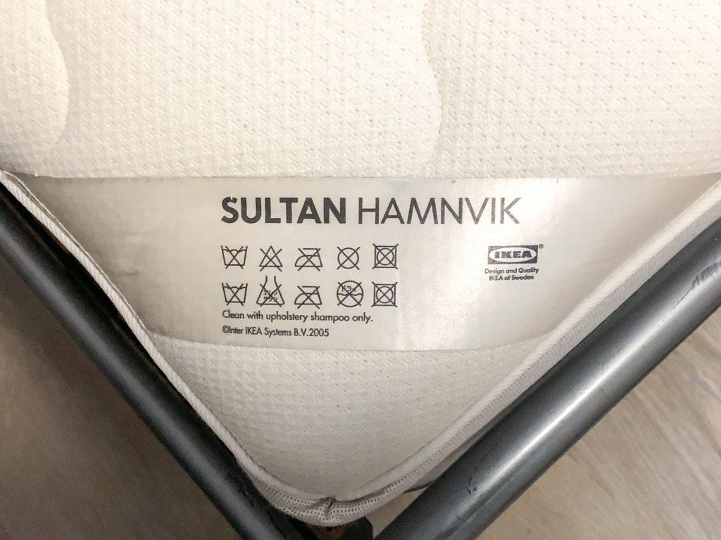 waslabel matras reinigen