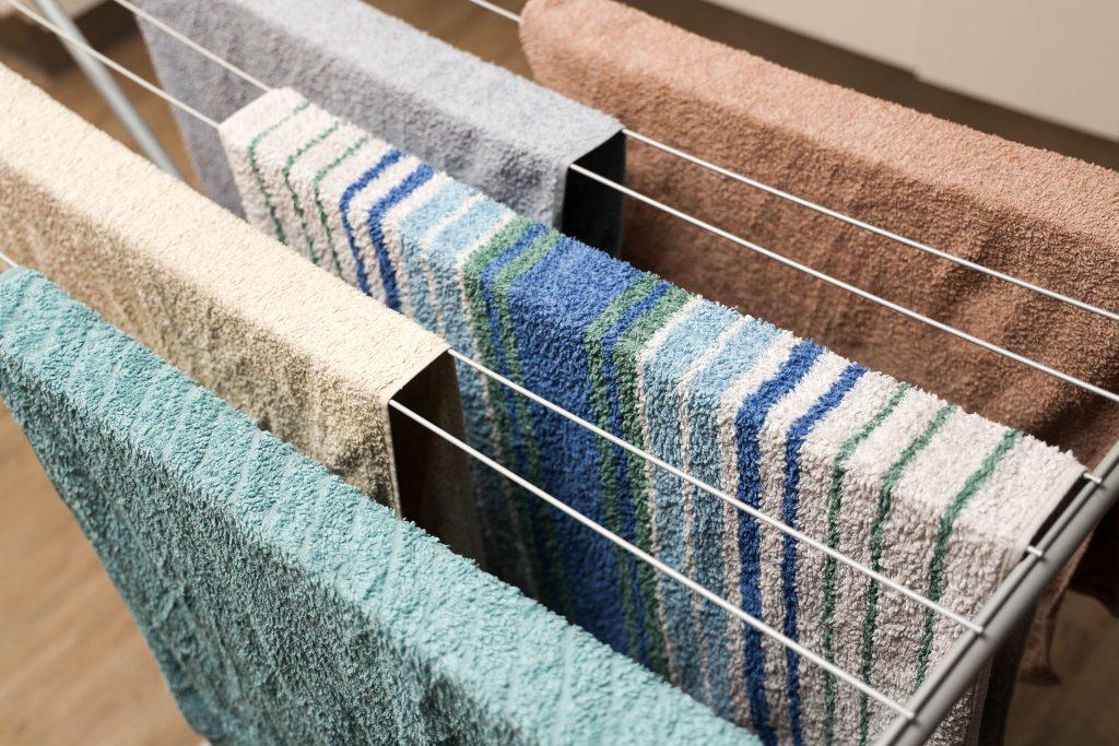 handdoeken uithangen