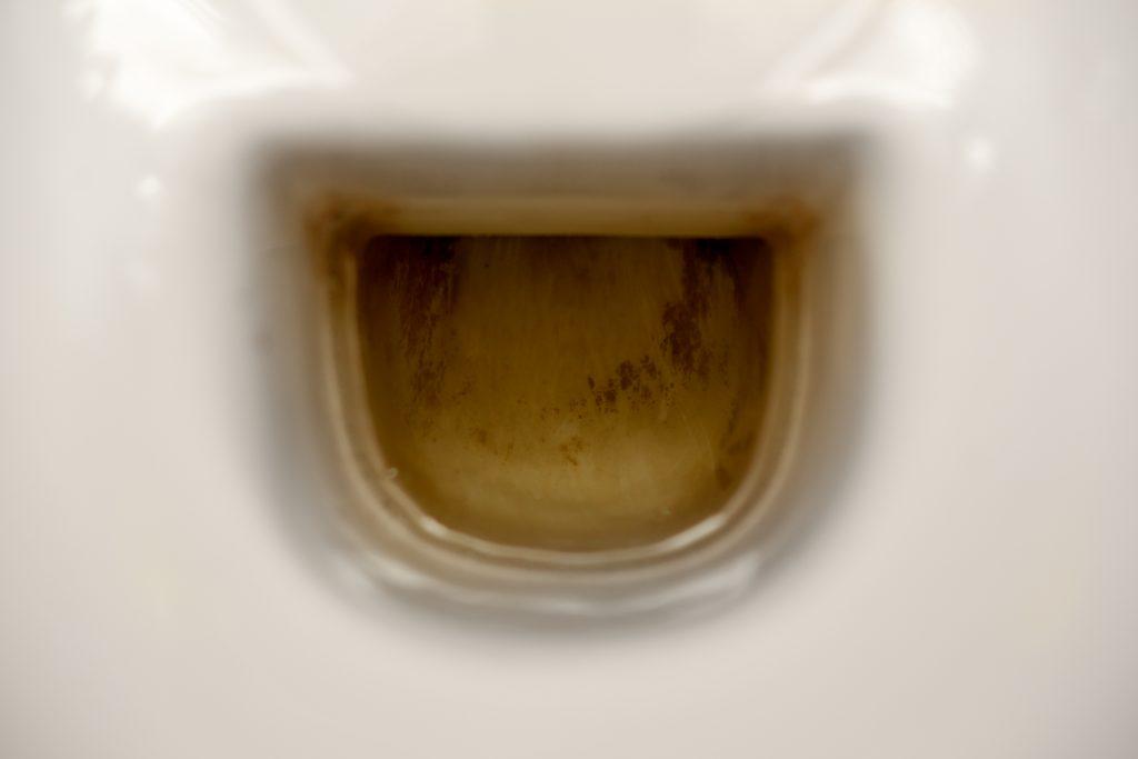 bruine aanslag WC