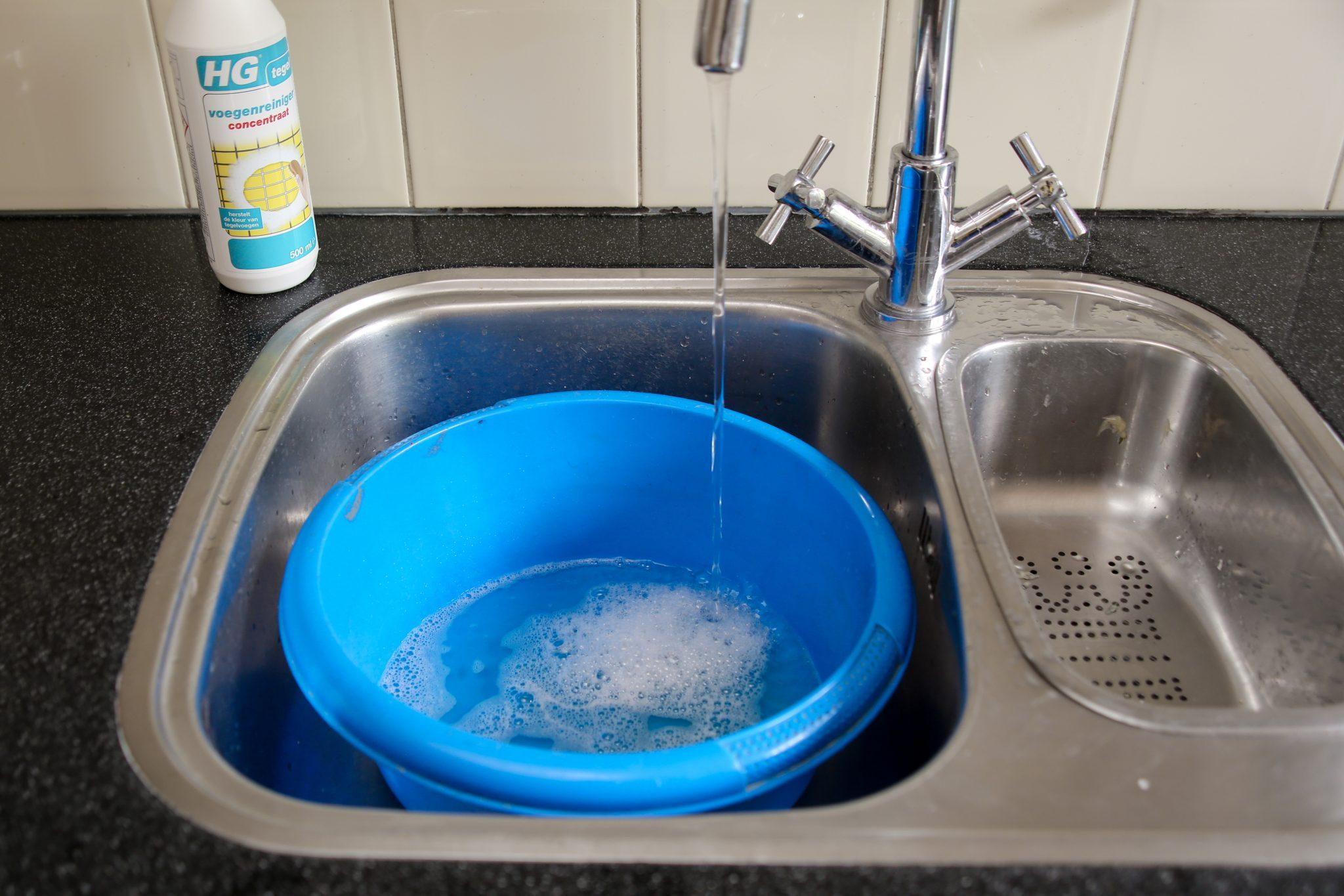 HG voegen reiniger sopje