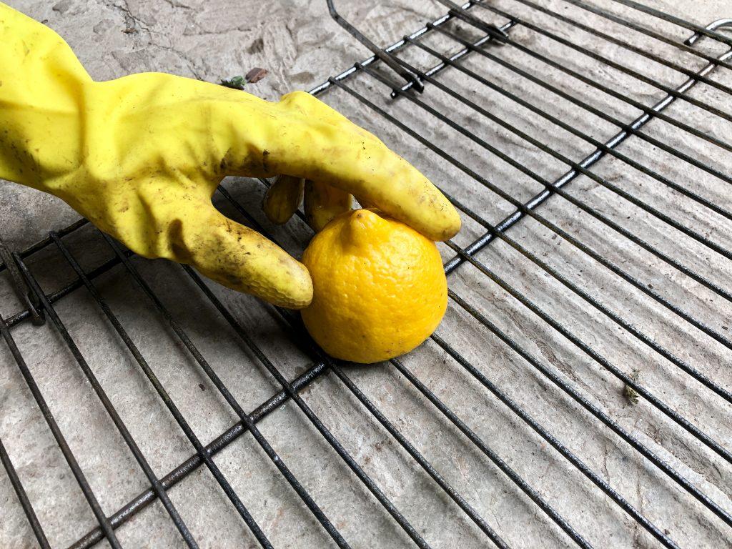 BBQ rooster schoonmaken citroen