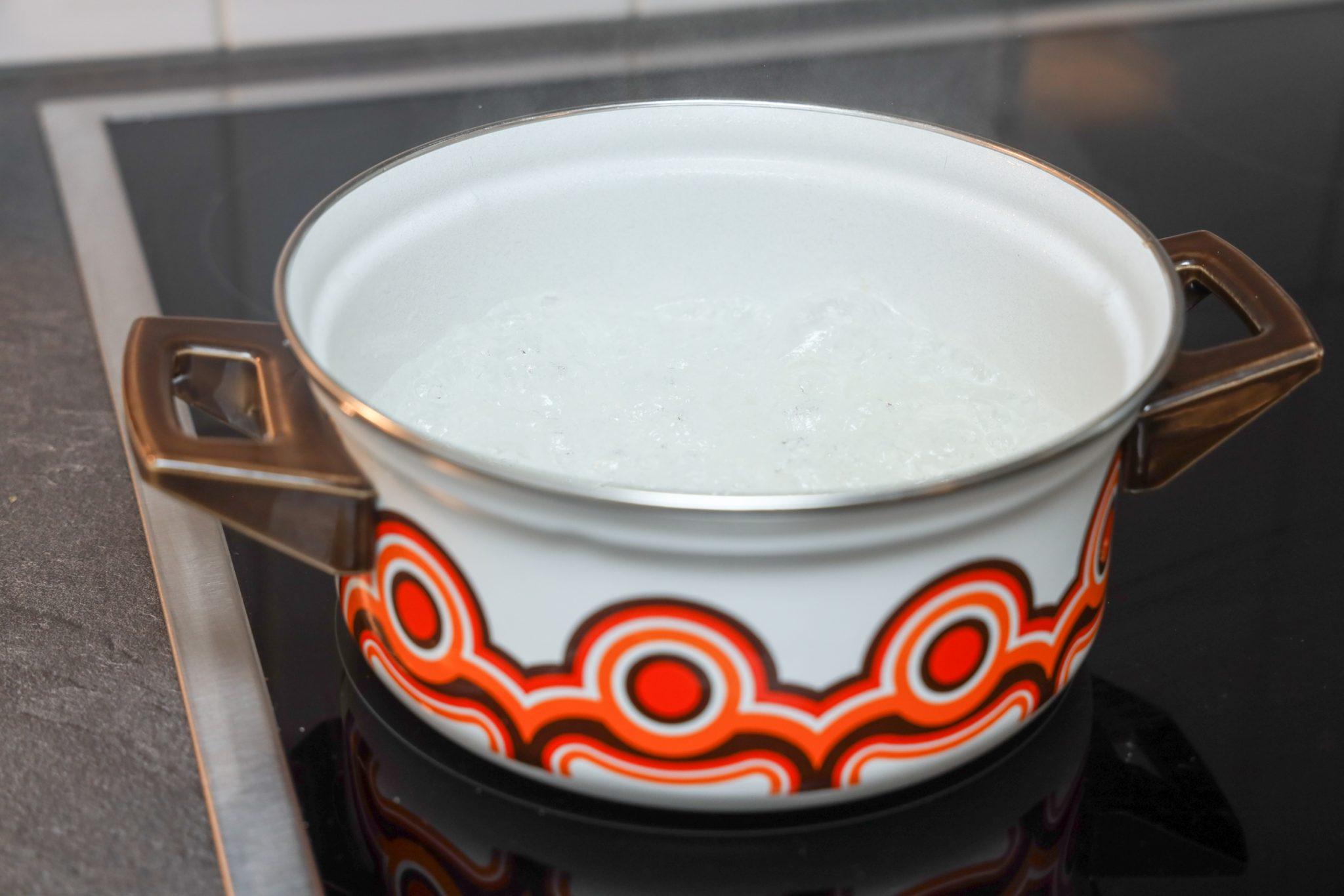 pan heet water