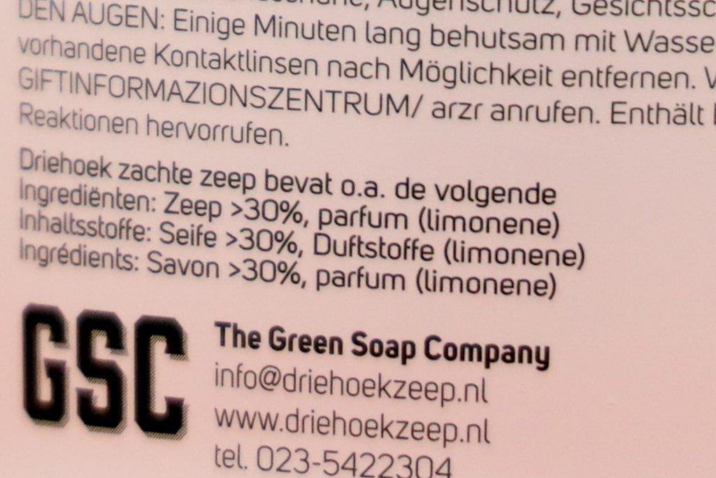 ingrediënten groene zeep