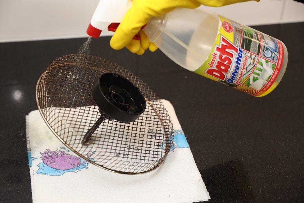 airfryer schoonmaken met dasty