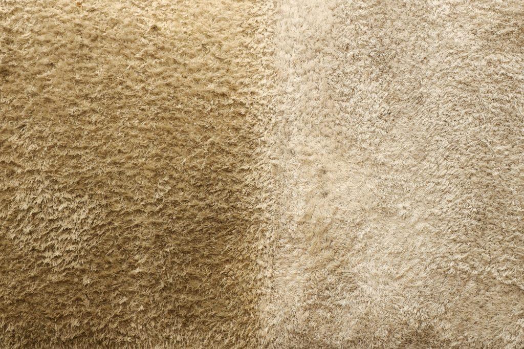 voor en na tapijtreiniging