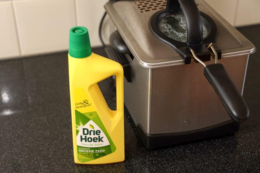 frituurpan schoonmaken met groene zeep